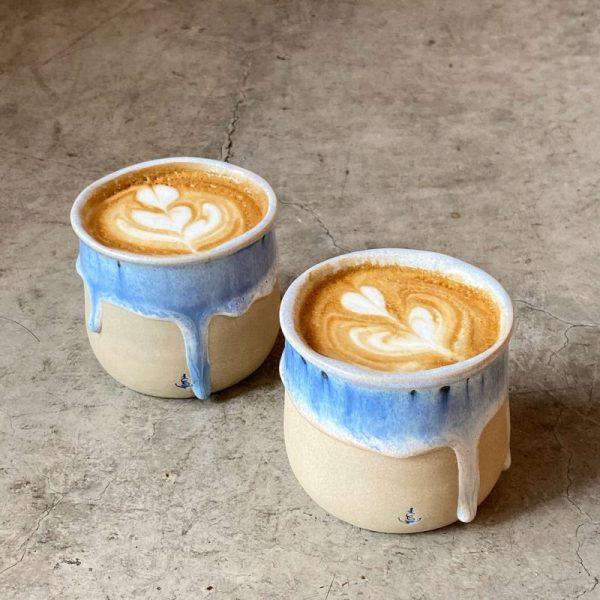 090-vaso de café azul